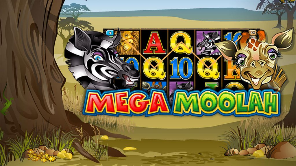 Mega Moolah landscape and reels